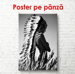 Poster, Fată americană