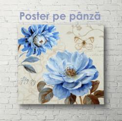Poster, Floare albastră de epocă