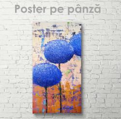 Poster, Flori albastre neobișnuite