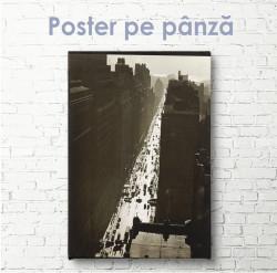 Poster, Imagine vintage a străzii orașului