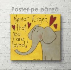 Poster, Nu uita niciodată că ești iubit