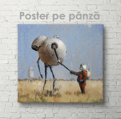 Poster, Robotul și omul