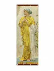 Roll-up, Fată într-o rochie galbenă