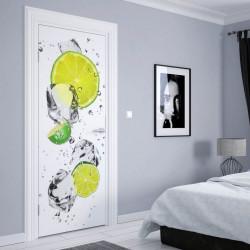 Stickere 3D pentru uși, Fantezia din fructe, 1 foaie de 80 x 200 cm