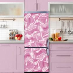 Stickere 3D pentru uși, Mătase roz, 1 foaie de 80 x 200 cm