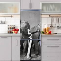 Stickere 3D pentru uși, Prietena animalelor, 1 foaie de 80 x 200 cm