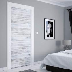Stickere 3D pentru uși, Scânduri albe, 1 foaie de 80 x 200 cm