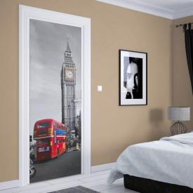 Stickere 3D pentru uși, Turnul cu ceas, 1 foaie de 80 x 200 cm