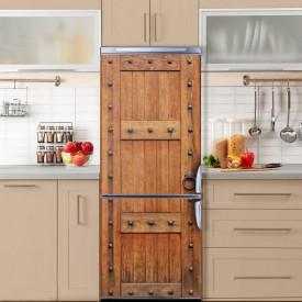 Stickere 3D pentru uși, Ușa de lemn , 1 foaie de 80 x 200 cm