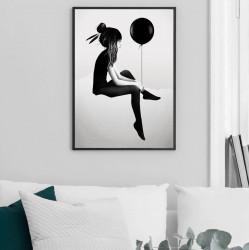 Tablou, Fată cu un balon