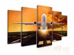 Tablou modular, Avionul aterizează