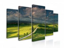 Tablou modular, Câmp verde și nouri