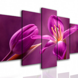 Tablou modular, Flori de culoare bordo