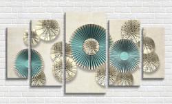 Tablou modular, Flori pe perete