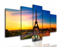 Tablou modular, Parisul la apus