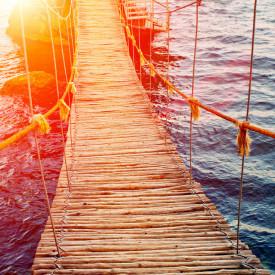 Tablou modular, Podul de lemn de-a lungul mării