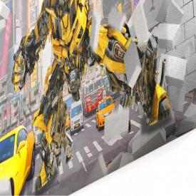 Tablou modular, Robotul pe un fundal 3D.