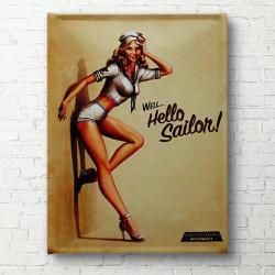 Tablouri Canvas, O fată stă lângă perete