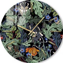 Ceas de perete, Frunze pe fond negru