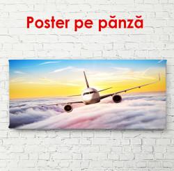 Poster, Avionul în nori