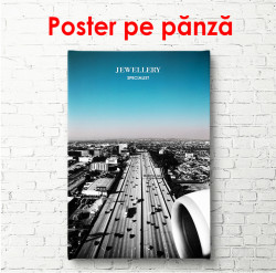 Poster, Drum de-a lungul orașului
