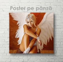 Poster, Fată cu aripi de înger
