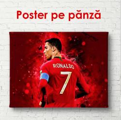 Poster, Jucătorul de fotbal într-un tricou roșu