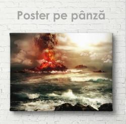 Poster, O erupție vulcanică