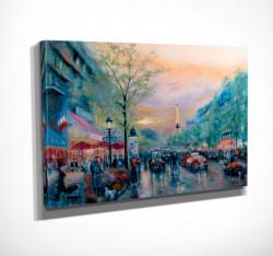 Poster, Parisul în vopsele cu ulei
