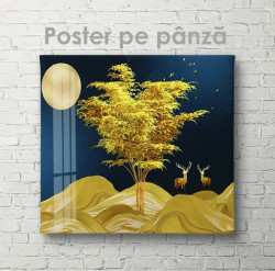 Poster, Peisaj în lumina lunii