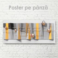 Poster, Perle pe fundal gri