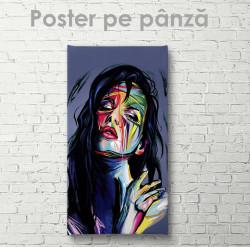 Poster, Portret abstract al unei fete 1