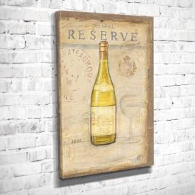 Poster, Sticla galbenă pe un fundal bej