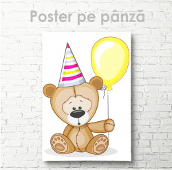 Poster, Ursuleț de pluș festiv