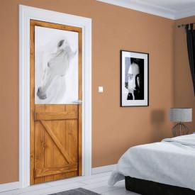 Stickere 3D pentru uși, Armăsarul alb , 1 foaie de 80 x 200 cm