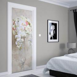 Stickere 3D pentru uși, Buchetul de flori, 1 foaie de 80 x 200 cm