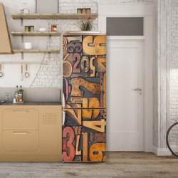 Stickere 3D pentru uși, Fantezia cu cifre, 1 foaie de 80 x 200 cm