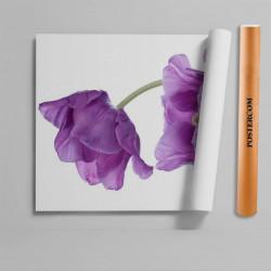 Stickere 3D pentru uși, Flori violet, 1 foaie de 80 x 200 cm