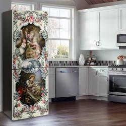 Stickere 3D pentru uși, În lumea culorilor, 1 foaie de 80 x 200 cm