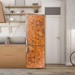 Stickere 3D pentru uși, O mulțime de cuburi din lemn, 1 foaie de 80 x 200 cm