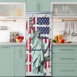 Stickere 3D pentru uși, Statuia Libertății din USA, 1 foaie de 80 x 200 cm