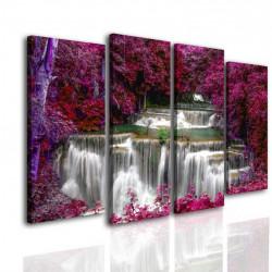 Tablou modular, Cascada în pădurea roz