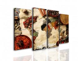 Tablou modular, Harta lumii simulată din condimentele tradiționale