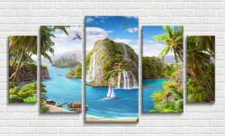 Tablou modular, Insula paradis