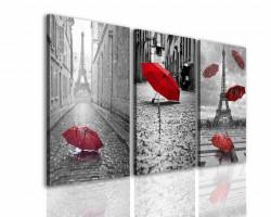 Tablou modular, O umbrelă roșie.