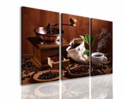 Tablou modular, Râșniță manuală de cafea si boabe de cafea