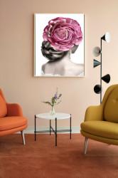Tablou, Trandafir roz