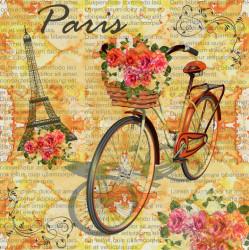 Tablouri Canvas, Provence francez cu o bicicletă aurie