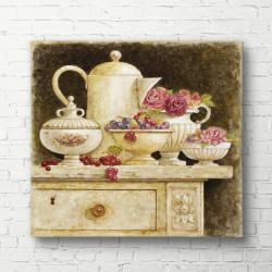 Tablouri Canvas, Setul de ceai pus pe masa