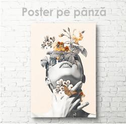 Poster, Fată cu flori